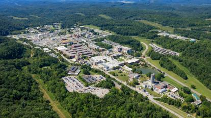Aerial view of ORNL looking southwest