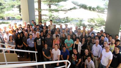 Group photo at the ARC Centre of Excellence for Particle Physics at the Terascale (CoEPP)