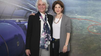President of the CERN Council, Ursula Bassler and Director-General of CERN, Fabiola Gianotti (Image: CERN)