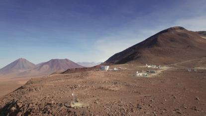 "This image, from ""Eternal Sky,"" a video series about the Simons Observatory, shows the Atacama Desert site where some of the telescopes for the CMB-S4 experiment will be built. (Credit: Copyright Debra Kellner/Simons Foundation)"