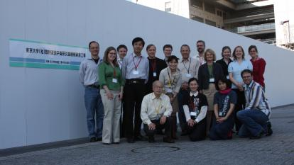 InterAction Collaboration photo at IPMU in Tokyo 13 April 2009. (Courtesy: IPMU)