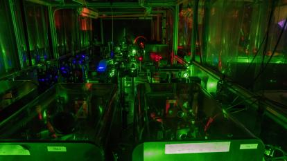 Lasers at ISOLDE in RILIS experiment (©CERN)