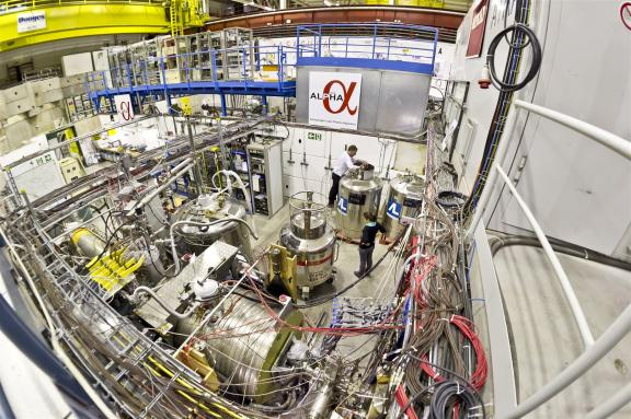 The ALPHA experiment in the Antiproton Decelerator hall at CERN. (Image: CERN)