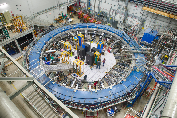 a top down look at the muon storage ring at fermilab