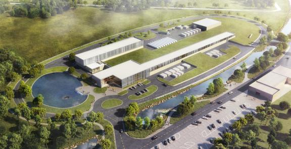 This new complex of buildings, located near Fermilab's Wilson Hall, will host the 215-meter-long (700-foot-long) PIP-II particle accelerator, the new heart of the Fermilab accelerator complex.
