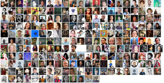 profile pictures of particle physicists