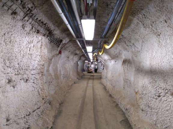 A long, underground tunnel