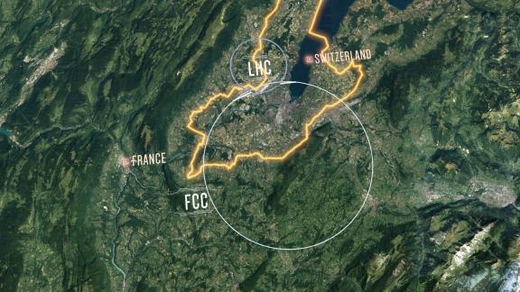 The proposed layout of the future circular collider (Image: CERN)